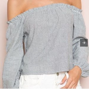 Brandy Melville Theia Top Off The Shoulder